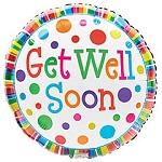 GET WELL SOON POLKA DOTS BALLOON
