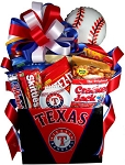 TEXAS RANGERS SNACK BASKET