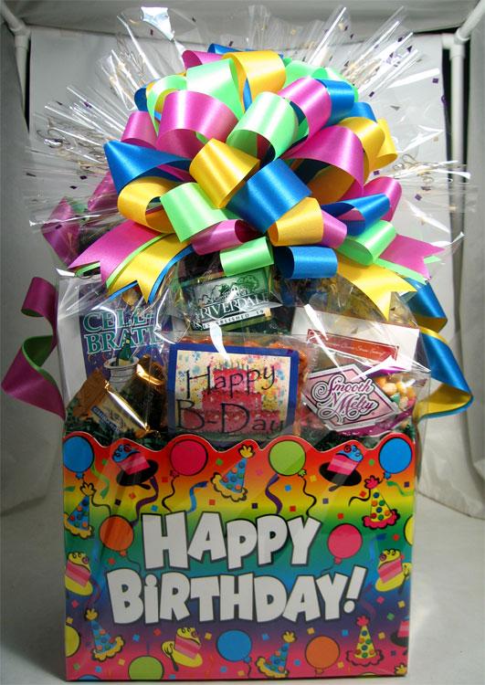 Happy Birthday Rainbow Basket