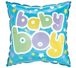 BABY BOY SQUARE BALLOON
