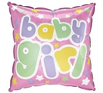 BABY GIRL SQUARE BALLOON