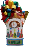 Happy Birthday Party Hats Gift Basket