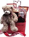 BEAR HUGS & KISSES GIFT BASKET