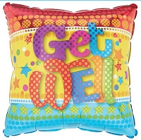 Get Well Colorful Balloon