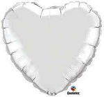 SILVER HEART SHAPED BALLOON