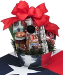 TEXAS HOLIDAY FEED BUCKET