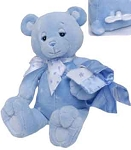 Twilight Blue Baby Plush Bear