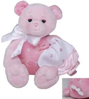 Twinkles Pink Baby Plush Bear - Musical